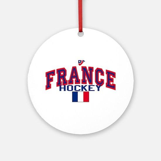 FR France Hockey Ornament (Round)