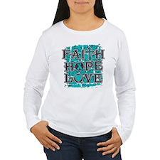 PCOS Faith Hope Love T-Shirt