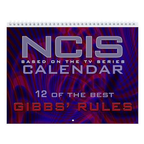 NCIS Gibbs' Rules Wall Calendar