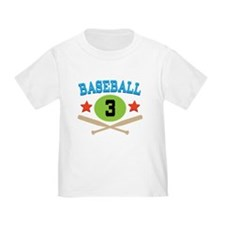 Baseball Player Number 3 T