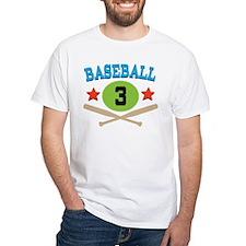 Baseball Player Number 3 Shirt