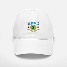 Baseball Player Number 3 Baseball Baseball Cap