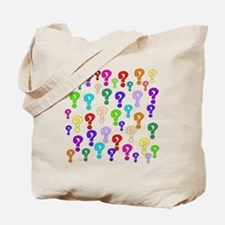 Rainbow Of Question Marks Tote Bag