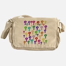 Rainbow Of Question Marks Messenger Bag
