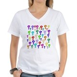 Question mark Womens V-Neck T-shirts