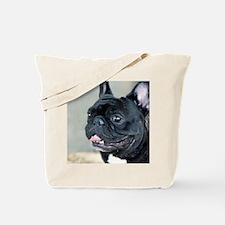Black French Bulldog Tote Bag