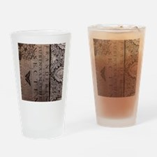 paris botanical art vintage scripts Drinking Glass
