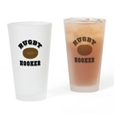 Rugby Hooker Drinking Glass