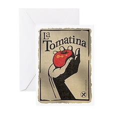 La Tomatina Greeting Card