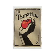 La Tomatina Rectangle Magnet