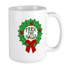 Trek the Halls Wreath Christmas Classic Mugs