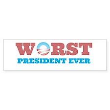 Worst President Ever Bumper Car Sticker