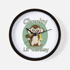Cheeky Lil Monkey Wall Clock