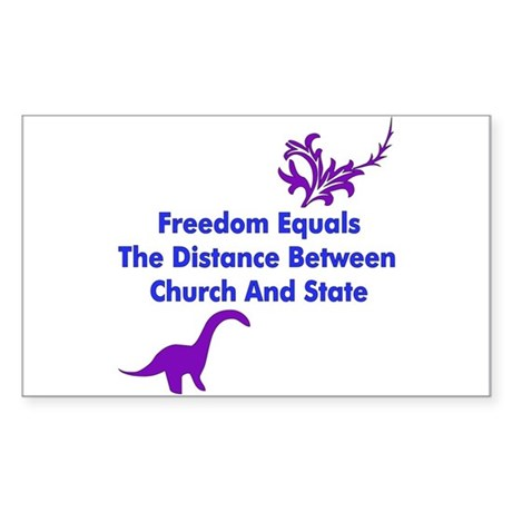 Separation Of Church And State Sticker (Rectangula