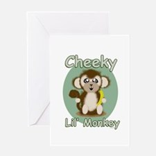 Cheeky Lil Monkey Greeting Cards