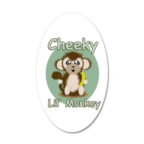 Cheeky Lil Monkey Wall Decal