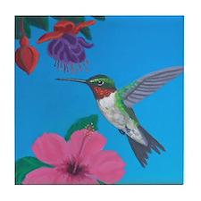 Hummingbird Heaven Tile Coaster