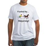 Skijoring Horse Fitted T-Shirt