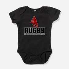 Rugby No Opponents Just Victims Baby Bodysuit