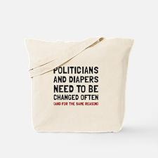 Politicians Diapers Tote Bag