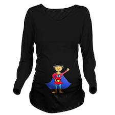 Super Girl_trans.png Long Sleeve Maternity T-Shirt