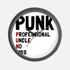Punk Professional Uncle Wall Clock