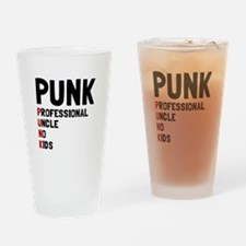 Punk Professional Uncle Drinking Glass