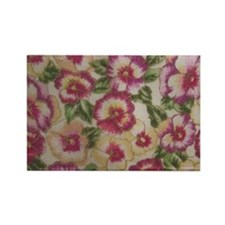 Pansies Rectangle Magnet