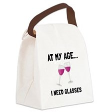 Wine Glasses Canvas Lunch Bag