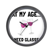 Wine Glasses Wall Clock