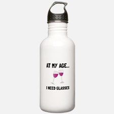 Wine Glasses Water Bottle