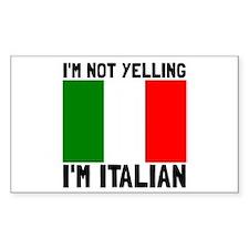 Yelling Italian Decal