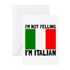 Yelling Italian Greeting Cards