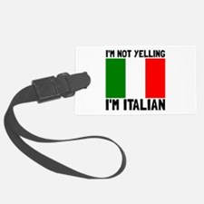 Yelling Italian Luggage Tag