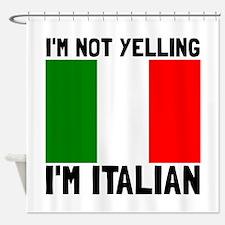 Yelling Italian Shower Curtain