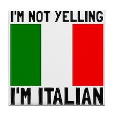 Yelling Italian Tile Coaster