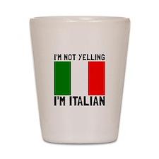 Yelling Italian Shot Glass