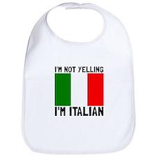 Yelling Italian Bib