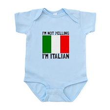 Yelling Italian Body Suit