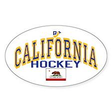 Cali Gold Hockey Oval Decal