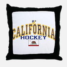 Cali Gold Hockey Throw Pillow