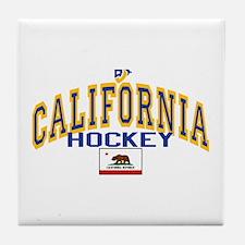 Cali Gold Hockey Tile Coaster