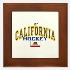 Cali Gold Hockey Framed Tile