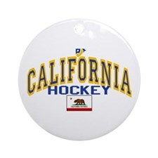 Cali Gold Hockey Ornament (Round)
