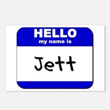 hello my name is jett  Postcards (Package of 8)