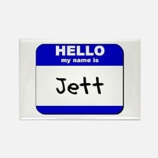 hello my name is jett Rectangle Magnet