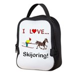 Skijoring Horse Neoprene Lunch Bag