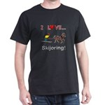 Skijoring Horse Dark T-Shirt