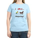 Skijoring Horse Women's Light T-Shirt