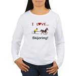 Skijoring Horse Women's Long Sleeve T-Shirt
